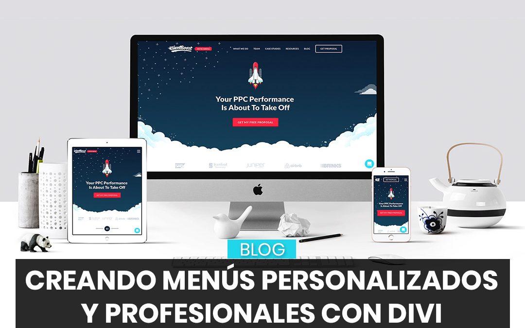Crear un menu personalizado y profesional con Divi