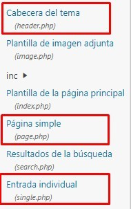 header page y single php