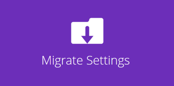 Migrate Divi Theme Settings