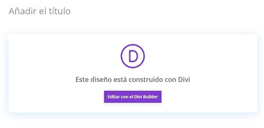 editar con divi builder